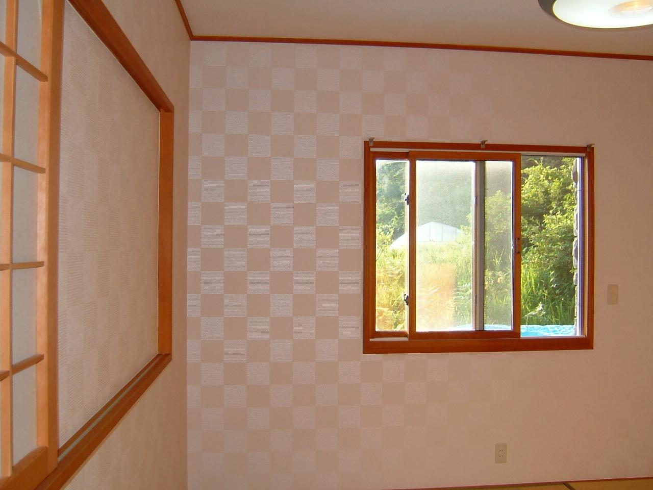 壁紙の張替え工事です 諏訪 松本 北杜エリアの内装リフォーム 名